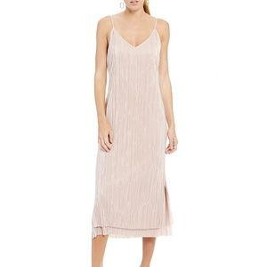 Gianni Bini Kerri Pleated Pink Dusty Rose Dress